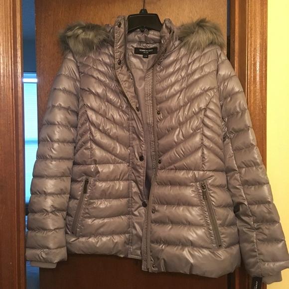 44337ecd2 Kenneth Cole New York® Faux Fur Short Puffer NWT